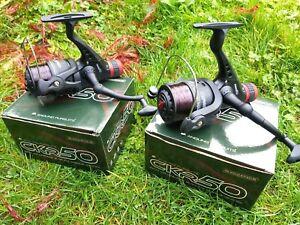 2 x NGT CKR50 Coarse Float Spinning Fishing Reel 8lb Line Rear Drag size 5000