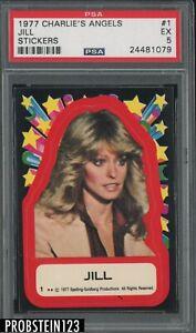 1977 Charlie's Angels Sticker #1 Jill PSA 5 EX
