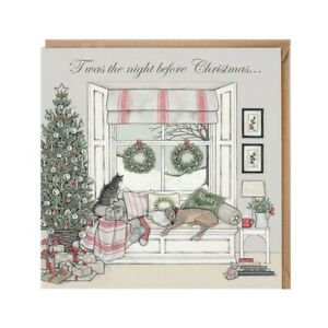 Twas The Night Before Christmas Card – Glittering Illustration by Sally Swannell