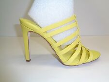 BCBG BCBGeneration Size 7 M CALLIE Yellow Leather Dress Sandals New Womens Shoes