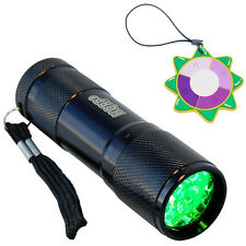 HQRP Hunting Green LED Aluminium Flashlight Torch Light Lamp