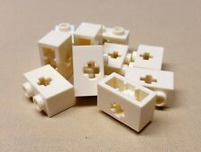x10 Lego Technic NXT Brick White 1 x 2 with Axle Hole Brick 10129 7194 4645 9748