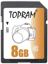TOPRAM 8GB SD 8G SDHC class10 C10 SD 2.0 secure digital memory card bulk
