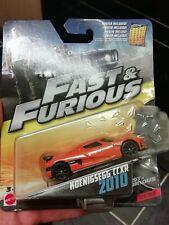 Fast Furious Mattel KOENIGSEGG CCXR 2010 orange