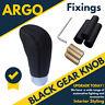1x Black Leather Gear Stick Knob Fit Peugeot 107 206 207 306 406 407 607
