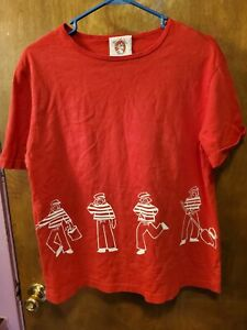 THE MAD MOOSE Red Cotton Mens T Shirt Large