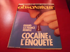 LE NOUVEL OBSERVATEUR N°1071 1985 COCAINE L'ENQUETE