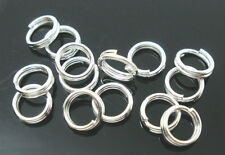 1000PCs Silver Plated Double Loops Split Rings Open Jump Rings 5mm