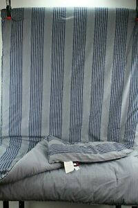 "TOMMY HILFIGER Reversible Blue Stripe Nautical Comforter Size Queen 90"" x 90"""