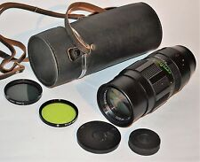 RUSSIAN USSR TELEPHOTO JUPITER-21M f4/200mm LENS M42 mount + 2 FILTERS