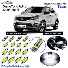 7 Blubs LED Interior Light Kit Cool White Dome For 2005-2013 SsangYong Actyon
