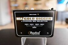Radial Engineering Gold Digger four channel microphone selector