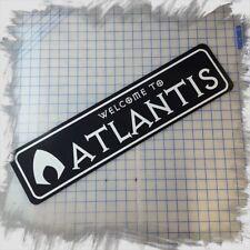 "WELCOME TO ATLANTIS (AQUAMAN) 6""x24"" ALUMINUM SIGN"