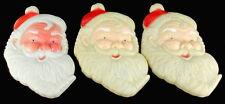 VINTAGE 1950'S SANTA CLAUS HEAD FIGURAL CHRISTMAS DECORATION COLLECTIBLE LOT 3
