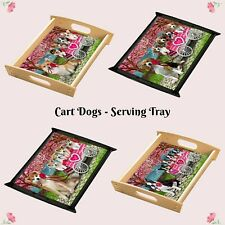 I Love Cart Food Serving Tray, Dogs, Cats, Pet Photo Lovers Mother Gift Kitchen