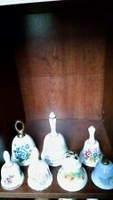 Collectible Bells lot of 7 with various flowers made of porcelain ceramic Bells