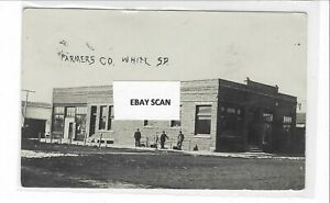 Real Photo Postcard - Farmers Co. (Auto Repair?), White, South Dakota
