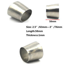 Stainless Steel Weldable Exhaust Pipe Reducer Adapter OD 2.5'' 63mm to 3'' 76mm