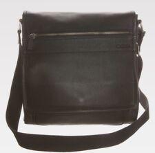 BNWT Strellson Real Leather Newton Messenger BAG Black Guaranteed Original