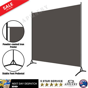 1 Panel Room Partition Decorative Bedroom Fabric Privacy Screen Standing Divider
