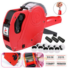 Mx 5500 8 Digits Eos Price Tag Gun 5000 White With Red Lines Sticker Labels3 Ink