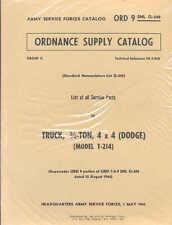 Dodge 3/4 ton WC Series 4x4 G502 T214 1945 Parts list manual book WW2 Army