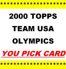 2000 Topps Team USA Olympic Women Basketball ~ YOU PICK CARD