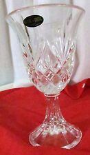 Crystal cut Water Goblet DePlomb DePlomo USA Vintage 24% Lead Cristal