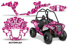 "Polaris Sportsman ""ACE"" ATV Graphic Kit Wrap Quad Accessories Decals BFLY WHITE"