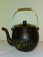 Vintage McCoy Kookie Kettle Black Tea Pot COOKIE JAR USA w/ Lid, Wire Handle