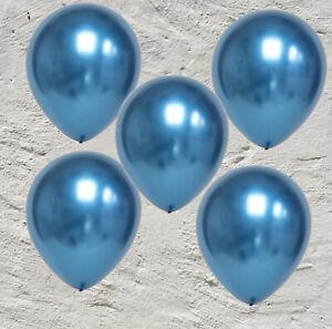 Luftballons Ø 30cm Farbauswahl chrome metallic latex Helium Ballon Geburtstag