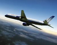 UNITED AIR LINES BOEING 757 IN FLIGHT 16x20 SILVER HALIDE PHOTO PRINT