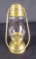 Circa 1900 Fancy Brass Clear Globe Petite Skater's Kerosene Oil Lantern
