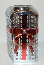 BATH & BODY WORKS RED BOW RIBBON METAL GENTLE FOAMING HAND SOAP SLEEVE HOLDER