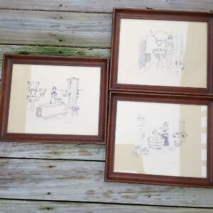"""Vintage [ 3 ]   11""""x14"""" A Kohler Original Bathroom Prints FRAMED"""
