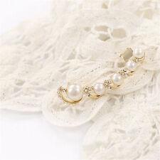 1 Ear Cuff Wrap Earrings Elegant Simulated Pearl Ear Cuff Piercing clip gold