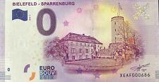 BILLET 0 ZERO EURO SCHEIN SOUVENIR BIELFELD - SPARRENBURG N° RADAR 686