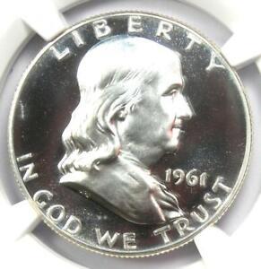 1961 PROOF Franklin Half Dollar 50C Coin - NGC PR69 Cameo (PF69) - $1,880 Value!