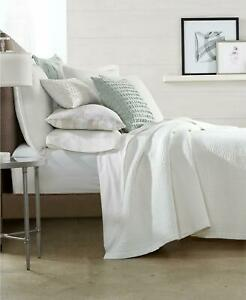 Hotel Collection Brushstroke Quilted 100% Cotton Full Queen Coverlet White $360
