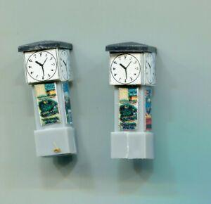 2 x Station clocks    N Gauge