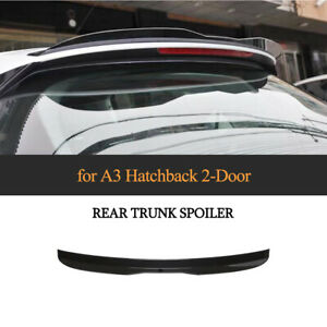 Glanz Schwarz Spoiler Heckspoiler Abrisskante Lippe Ansatz für Audi A3 8V1 14-18