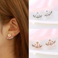 1 Pair Fashion Women Crystal Rhinestone Ear Stud Daisy Flower Earring Jewelry GA