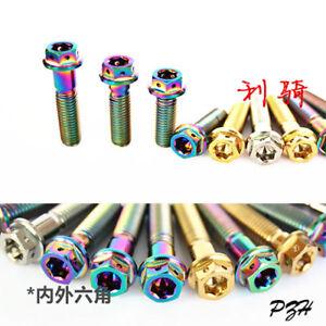 M8*15/20/25/30/35/40/45/50 Titanium Alloy Bolts Screws Allen Key Head Gold etc