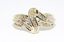 10K YELLOW GOLD 29 NATURAL DIAMOND COCKTAIL RING 2.96 GRAMS + RING BOX SIZE 7.25