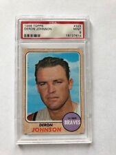 1968 Topps Deron Johnson PSA 9 Atlanta Braves Card #323