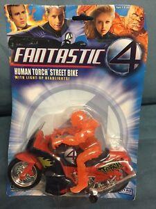 Fantastic 4 Fantastic Four Bump 'N Go Vehicle: Human Torch Street Bike NEW MOC