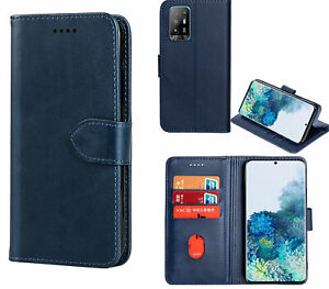 Oppo A74 5G Wallet Case Cowhide Finish Pu Leather Magnet Card Slots