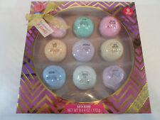 Bath Bomb Gift Set 9 pieces lavender cherry mint green tea orchid shea almond