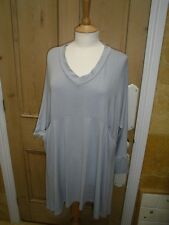 MADE IN ITALY 3/4 SLEEVED, STRETCH TUNIC TOP/DRESS, MEDIUM/LARGE, LAGENLOOK