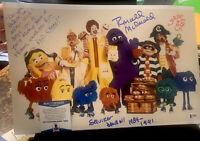 SQUIRE FRIDELL SIGNED 11x17 PHOTO RONALD MCDONALD ACTOR MCDONALDS BECKETT Lyrics